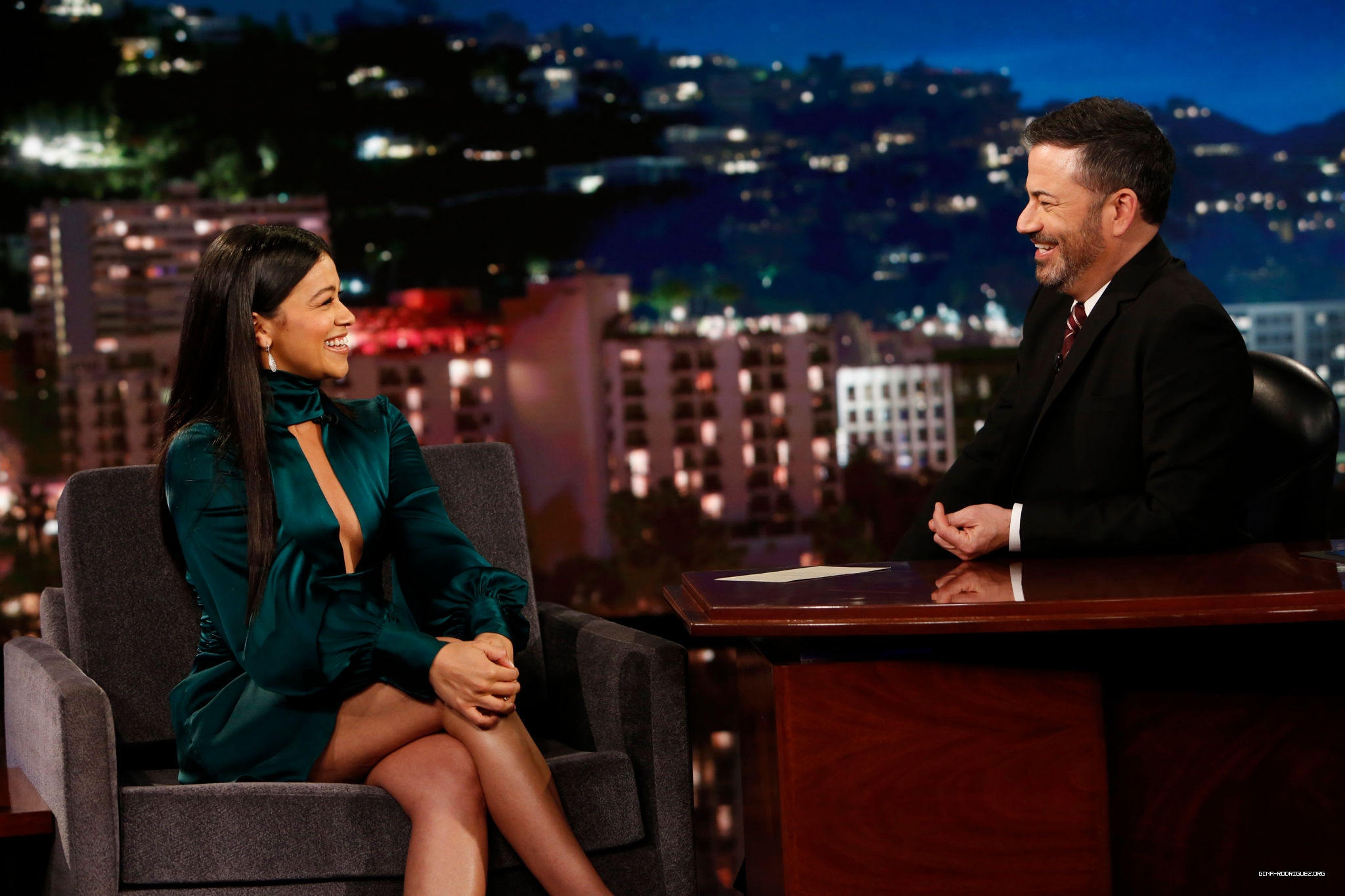 Press/Photos/Video: Gina on 'Jimmy Kimmel Live'