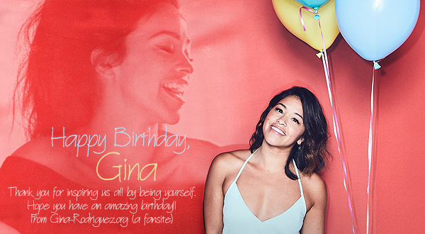 Happy Birthday, Gina!!